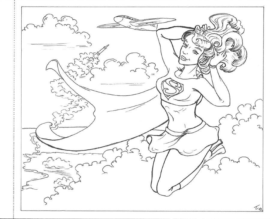 Coloring book - Supergirl by Trousilinka on DeviantArt