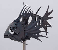 Statue of fish skeletons by archaeopteryx-stocks