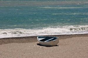 boat on the beach by archaeopteryx-stocks