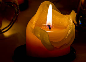 yellow candle by archaeopteryx-stocks