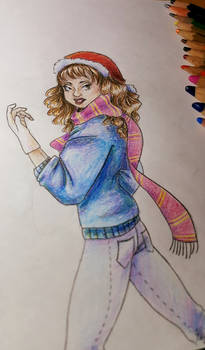 Hermione Granger - Christmas Drawing Fun