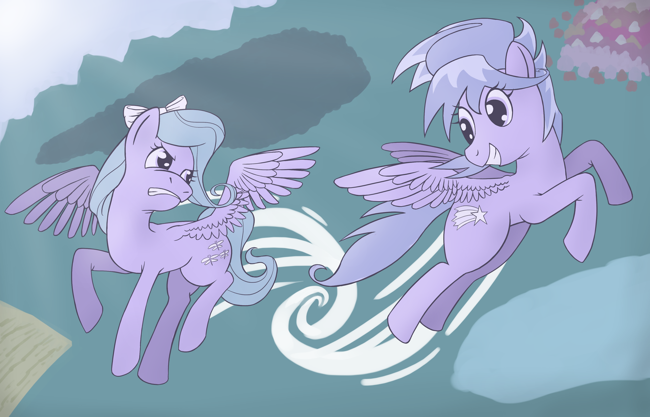 #2 - Cloudchaser and Flitter by WillyGalleta