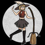 Witchy Patty (Drawlloween Day 14) by arttoinfinity