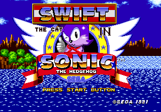 Swift the Cat in S1 - Title Screen by JoshuatheHedgefox