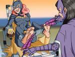 Batgirl Tickled by Huntress