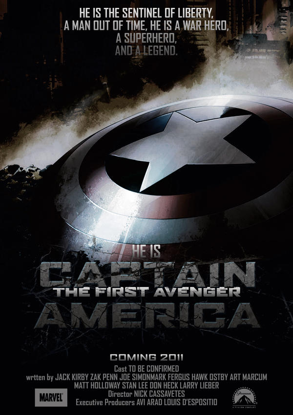 Captain America Poster 1 by NineteenPSG