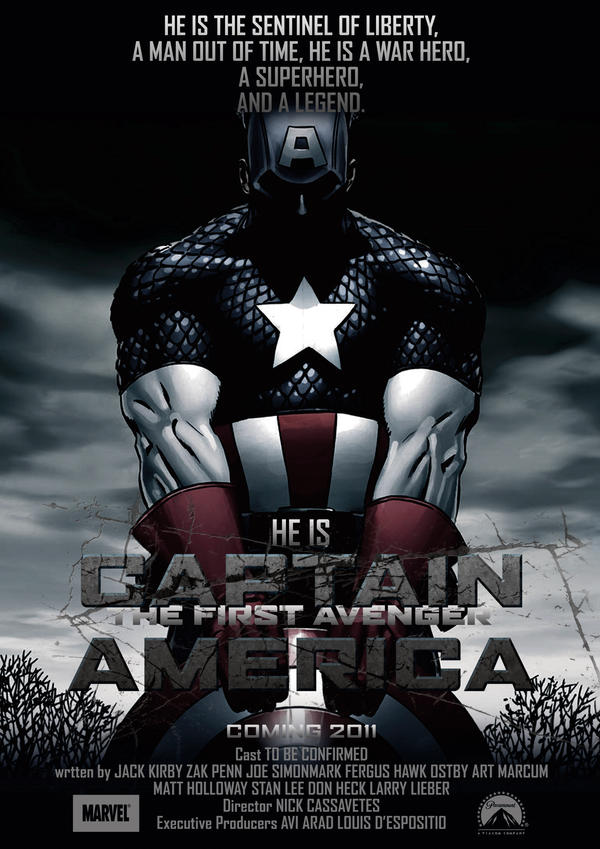 Captain America Poster 3 by NineteenPSG