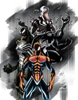 Spiderman n Symbiote Coloured by NineteenPSG