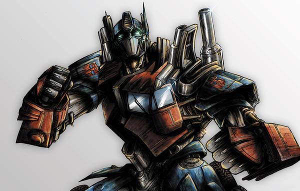 Optimus Prime Coloured by NineteenPSG