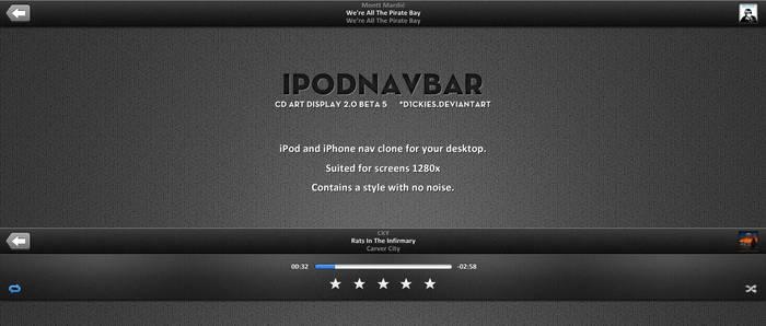 iPodNavBar For CAD