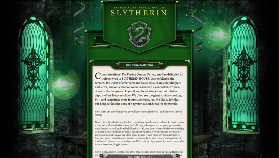 Slytherin House Welcome Letter By ProudToBeATeenGeek On DeviantArt
