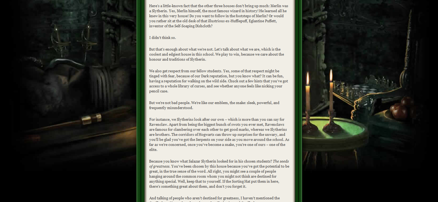 slytherin house welcome letter - photo #5