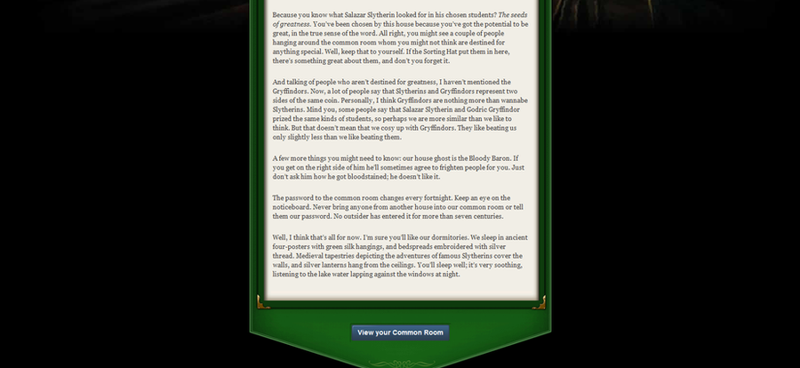 slytherin house welcome letter - photo #6