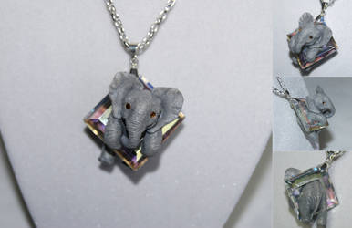 Commission: Elephant Necklace