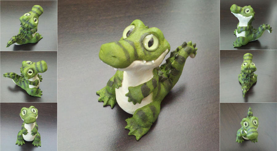 Cute Crocodile Sculpture by IllusionTree