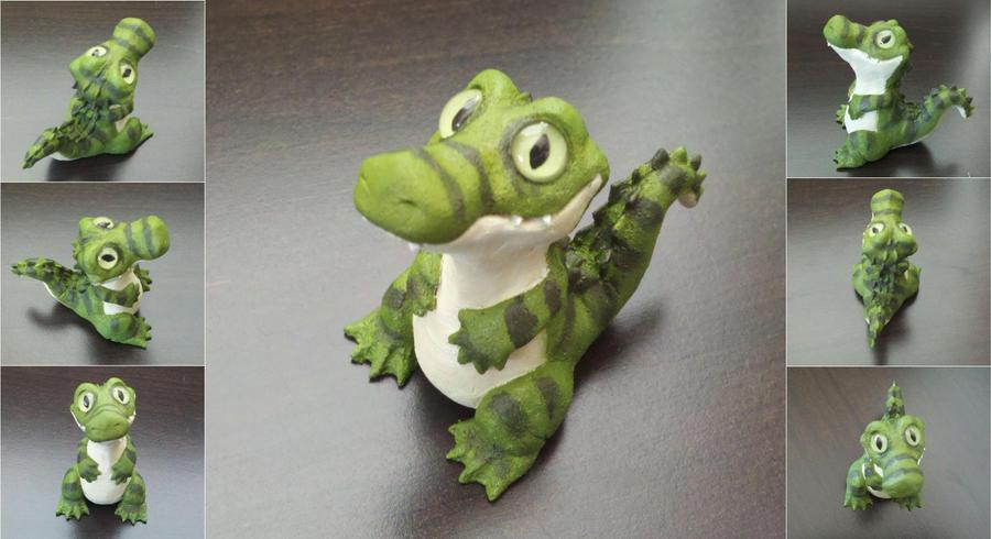 Cute Crocodile Sculpture by IllusionTree