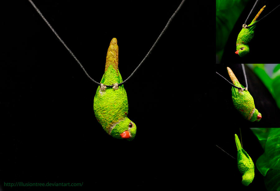 Lorikeet Parrot Necklace by IllusionTree