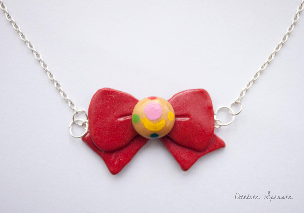 Sailor Moon Bow Pendant by MaverickMae