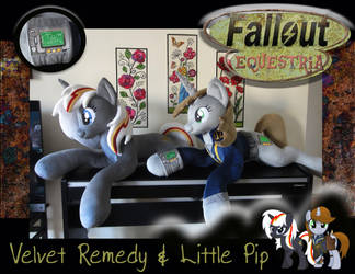 Fallout Equestria Velvet Remedy and Little Pip by PurpleNebulaStudios