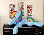 Handmade Plush Pony Lifesize by PurpleNebulaStudios