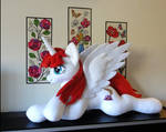 Life-size Lauren Faust inspired Plush Alicorn