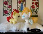 Baby Handmade Plush Pony Pair! by PurpleNebulaStudios