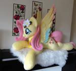 Rainbow Wing Lifesized Pony Plushie! by PurpleNebulaStudios