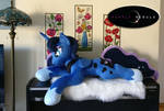 Princess of the Night - Life Size Plush Pony by PurpleNebulaStudios