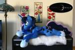 Princess of the Night - Life Size Plush Pony by PurpleNebulaStudios