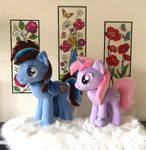 Two beautiful OC's were finished this morn! by PurpleNebulaStudios