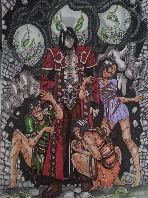 castlevania gorgon sisters by Kronosketch