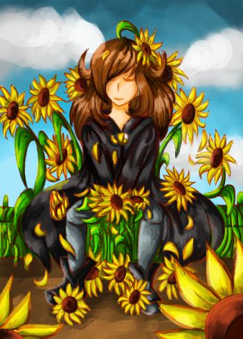 Sunflower Kai by KitsyArts