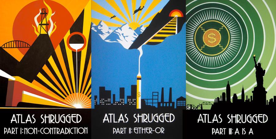 Atlas Shrugged Triptych by DecoEchoes