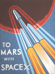 To Mars with SpaceX by DecoEchoes