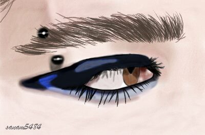 Bill Kaulitz's Eye 2008 by sanam5484