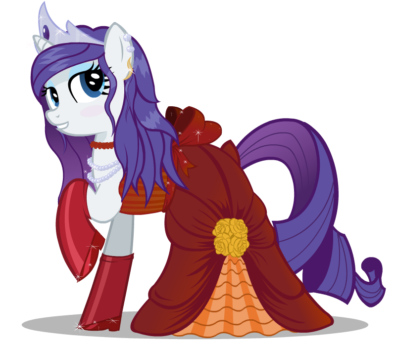 Rarity's Dress by Blueaugen