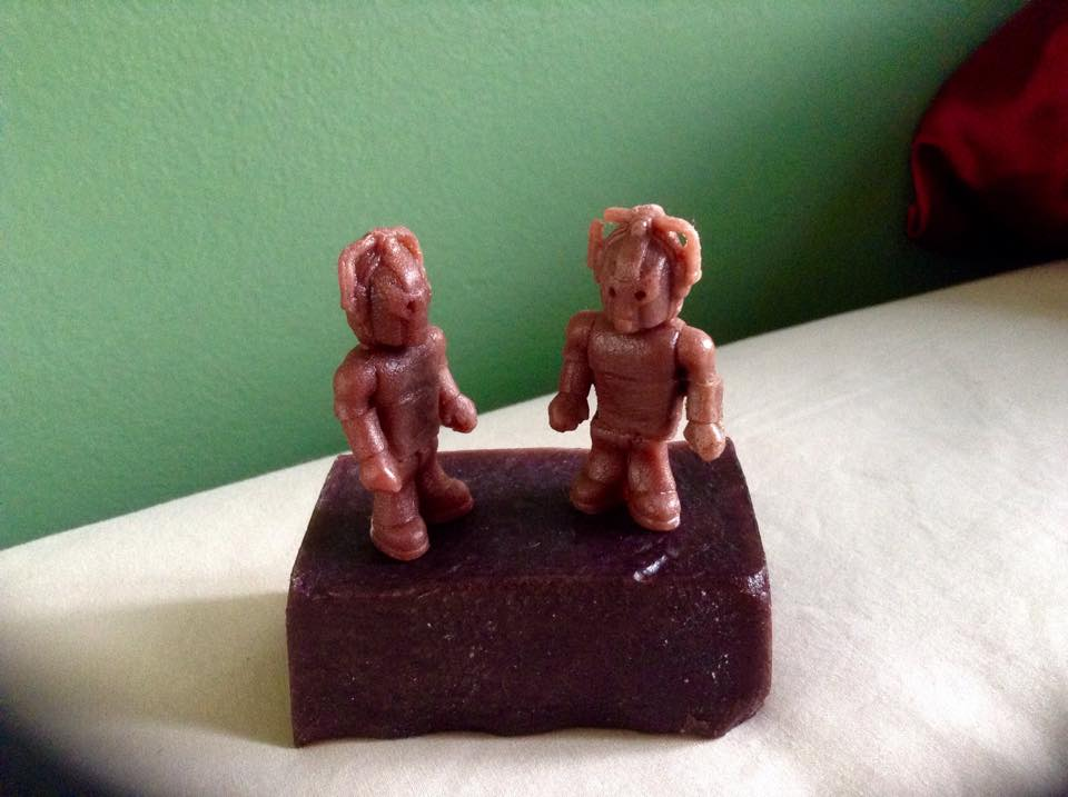 Tiny Soap Cybermen by LaughterInTheWoods