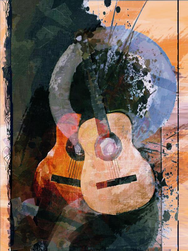 Spanish Guitar II By DigitalHyperGFX