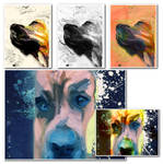 Painted dog collage by DigitalHyperGFX