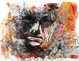 Retrospection in a face by DigitalHyperGFX