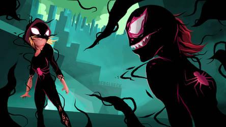Symbiote Spider-Gwen by Ben3555