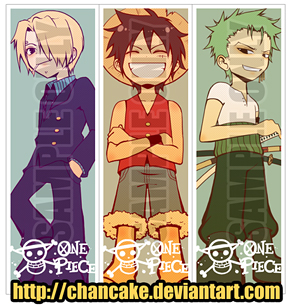 ONE PIECE BOOKMARKS by Chancake