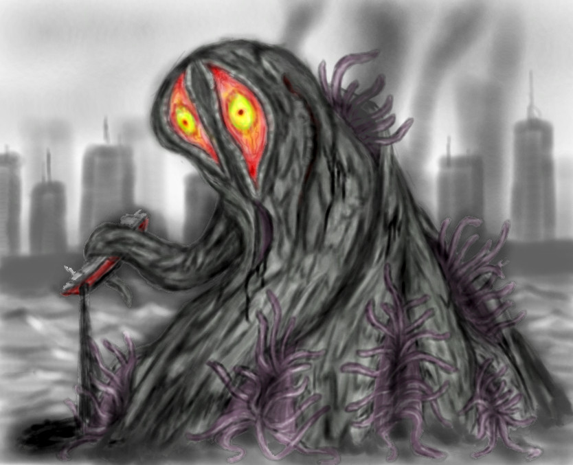 Hedorah,The Smog Monster by Sakitaro