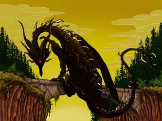 Black Dragon Kalameet by Sakitaro