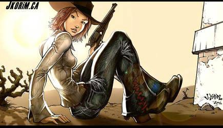 Gunslinger Chick by JKorim