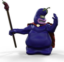 Eggplant Wizard from Captain N: The Game Master
