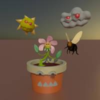 Monster Zombie Garden - 3d Version by fschpp
