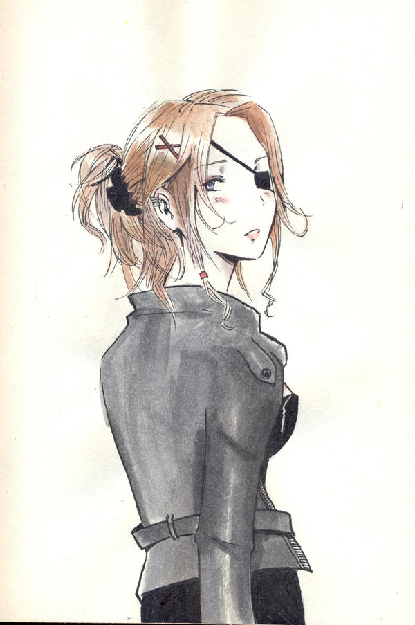 Anime Characters Leather Jacket : Leather jacket and an eyepatch by thegirlwhomoved on