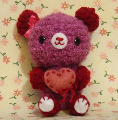 Amigurumi To Go Valentine Bear : Amigurumi Valentines Day Bear by amigurumikingdom on ...