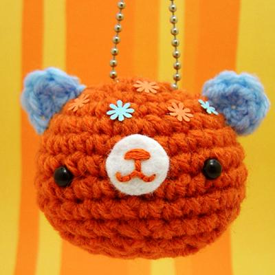 Amigurumi Bear Keychain by amigurumikingdom